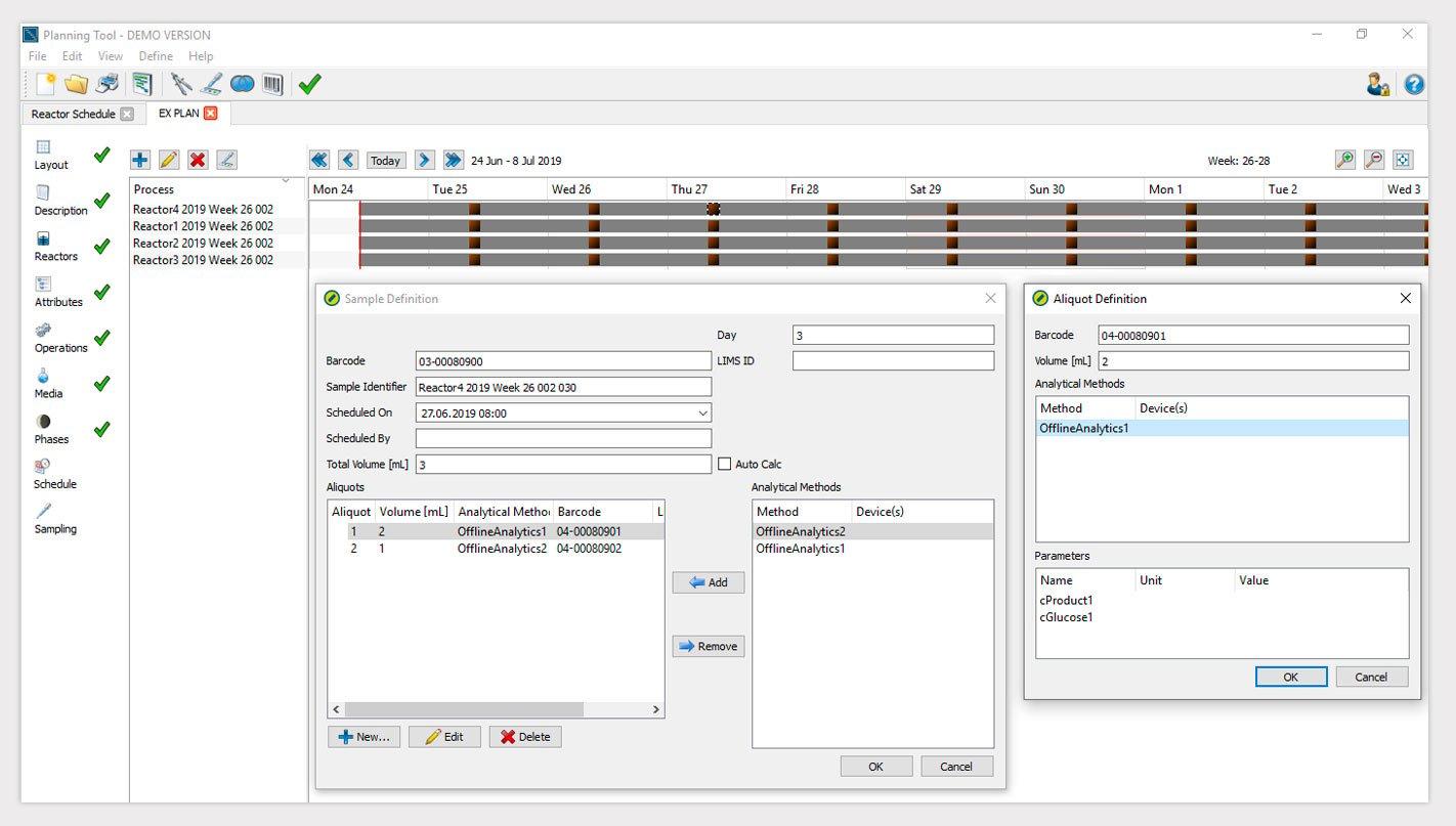 Lucullus PIMS permet, via une interface intuitive, de préparer des expérimentations
